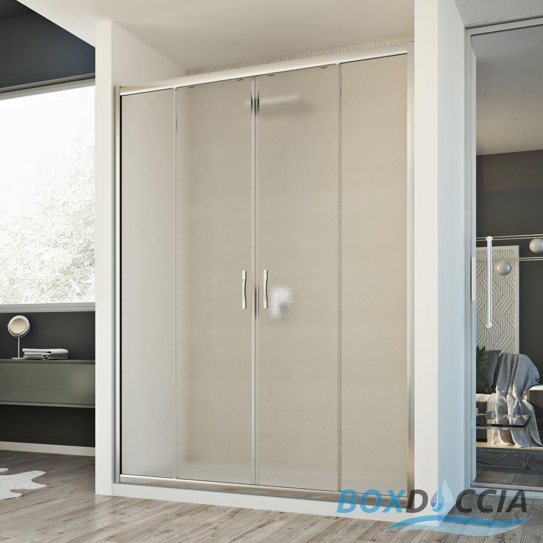 Box cabina doccia nicchia parete porta 2 ante cristallo - Porta accappatoio da doccia ...