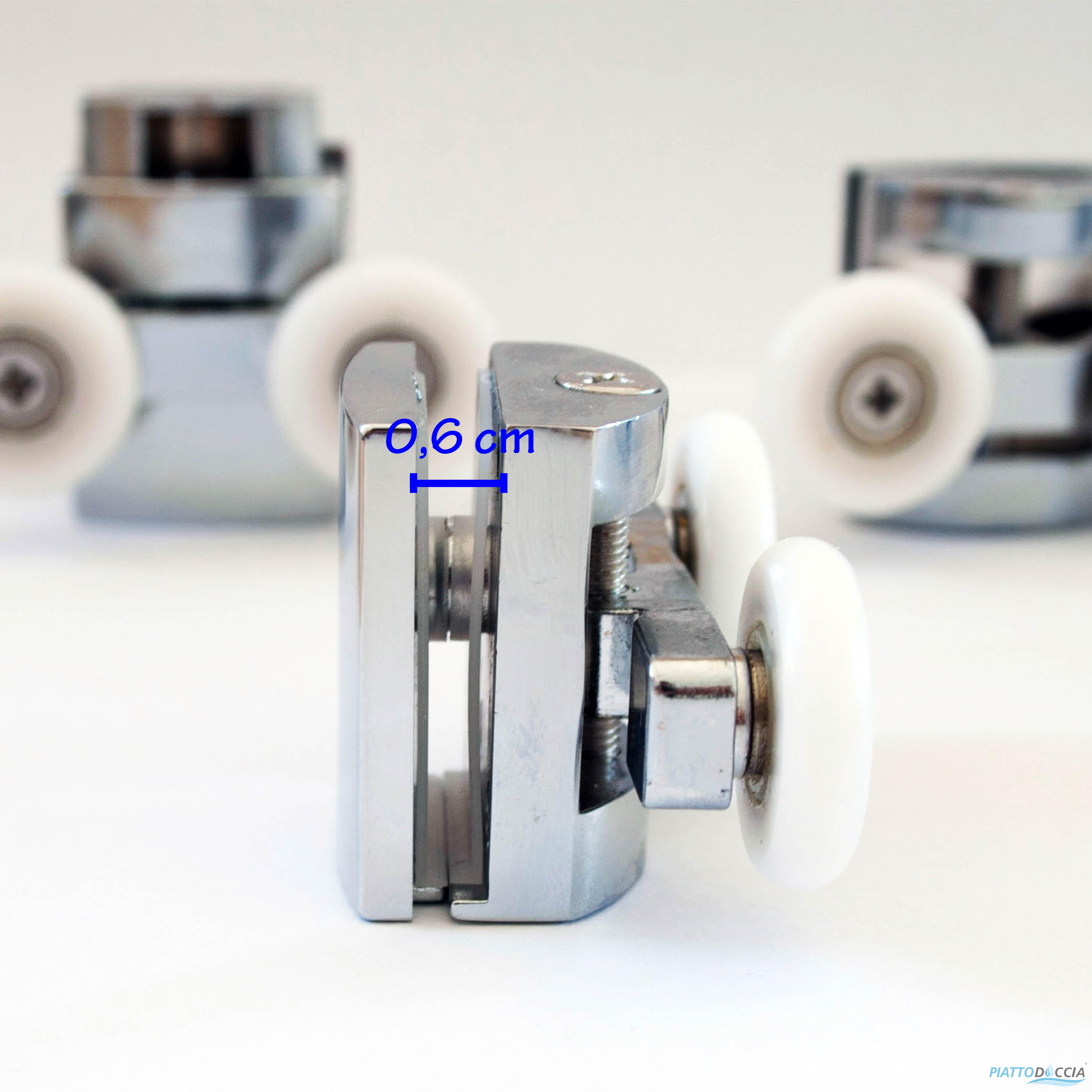 Kit8 cuscinetti ricambio rotelline box doccia cabina porta for Ricambi box doccia cuscinetti
