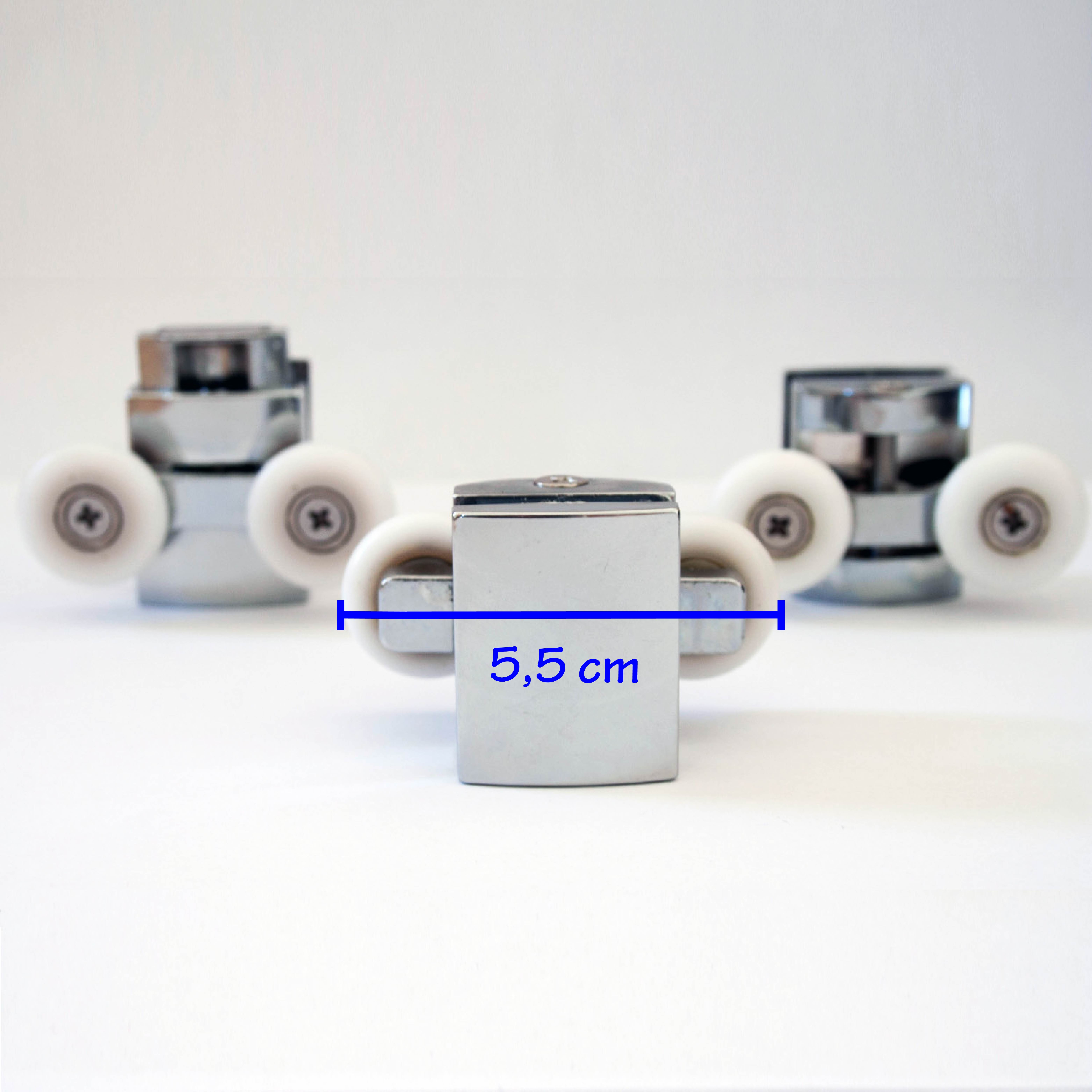 Cabine de douche kit8 pieces roulettes remplacement verre - Pieces detachees cabine de douche aurlane ...