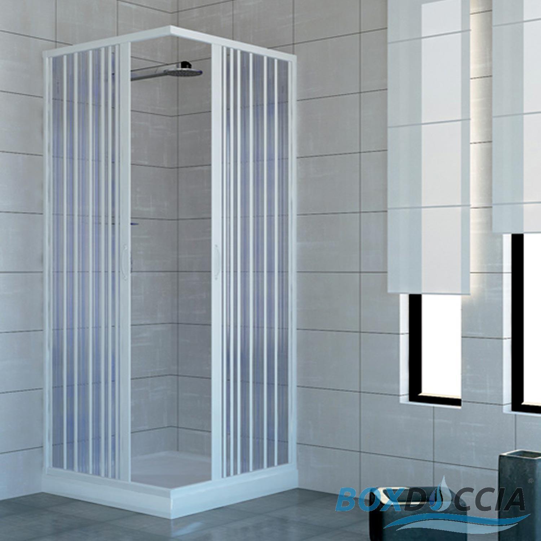 cabine de douche paroi de douche angulaire pliante pvc couleurs sur mesure ebay. Black Bedroom Furniture Sets. Home Design Ideas