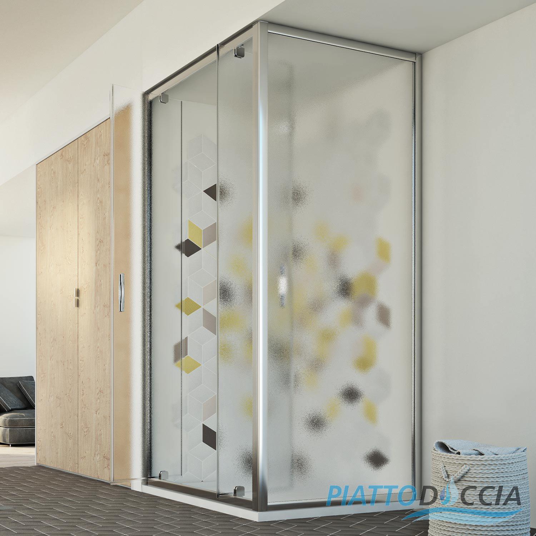 Duschkabine dusche duschabtrennung duschwand glas for Fenster 70x90