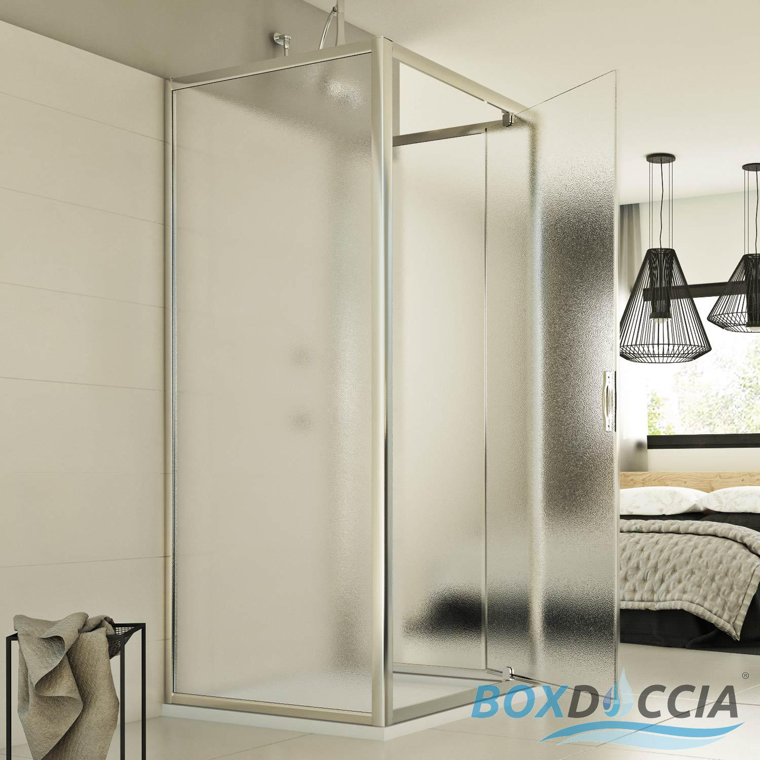 cabine de douche paroi de douche 3 parois ouverture 1 porte pivot verre carr ebay. Black Bedroom Furniture Sets. Home Design Ideas