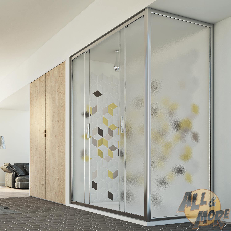 cabine de douche 90x170 cm h198 angulaire 2 portes opaque coulissant paroi ebay. Black Bedroom Furniture Sets. Home Design Ideas