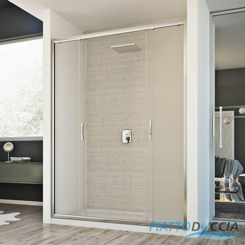cabine de douche paroi de douche 150 cm mur coulissantes 2 portes opaque ebay. Black Bedroom Furniture Sets. Home Design Ideas