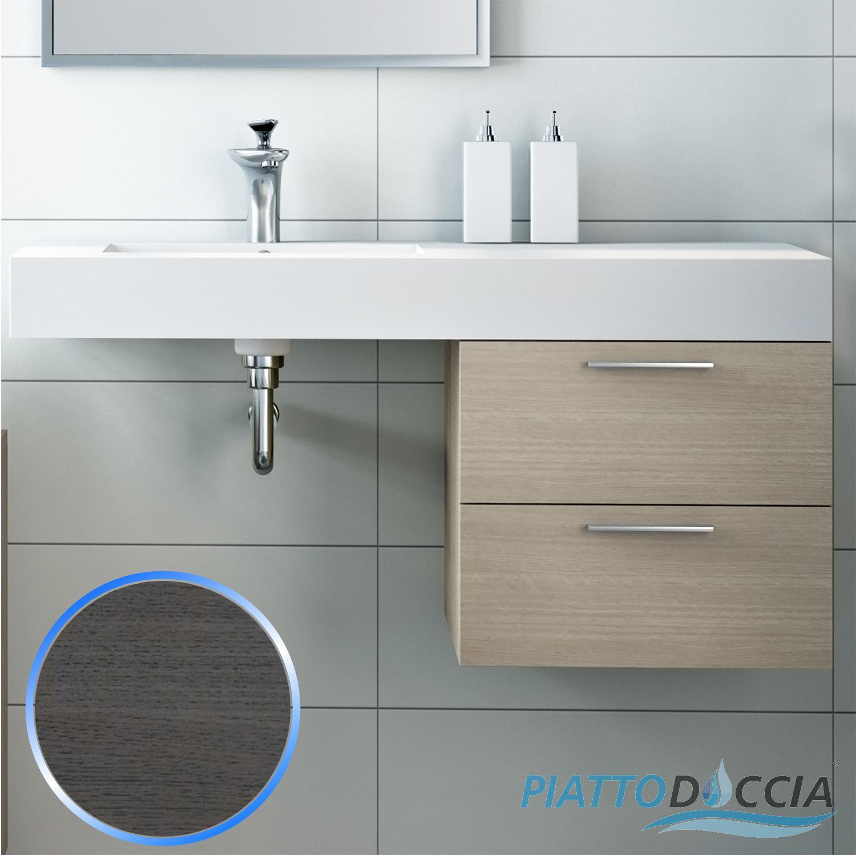 Base mobile da bagno sospeso arredo moderno design legno lavabo 4 colori 45 cm ebay - Base mobile bagno ...