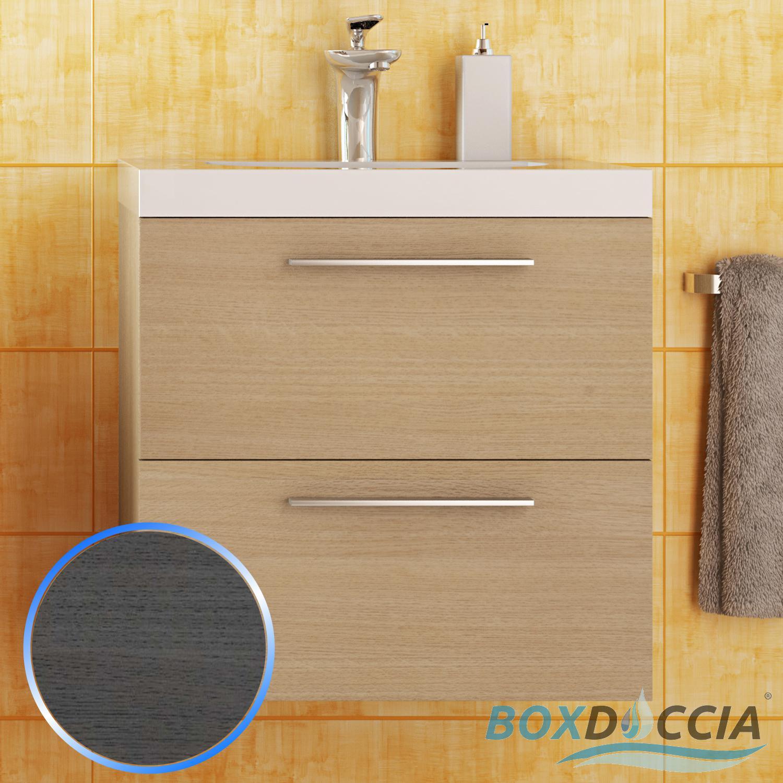 Base mobile da bagno sospeso arredo moderno design legno lavabo 4 colori 53 cm ebay - Base mobile bagno ...