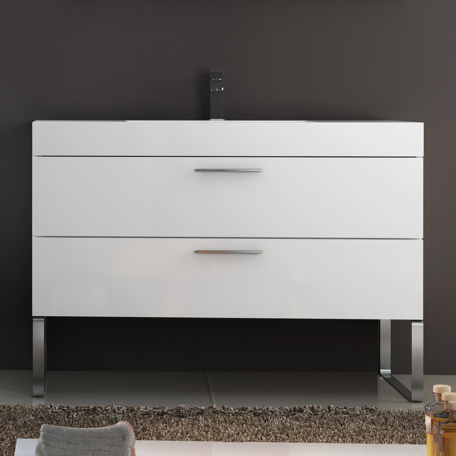 Base mobile da bagno sospeso arredo moderno design legno lavabo bianco 120 cm ebay - Base mobile bagno ...