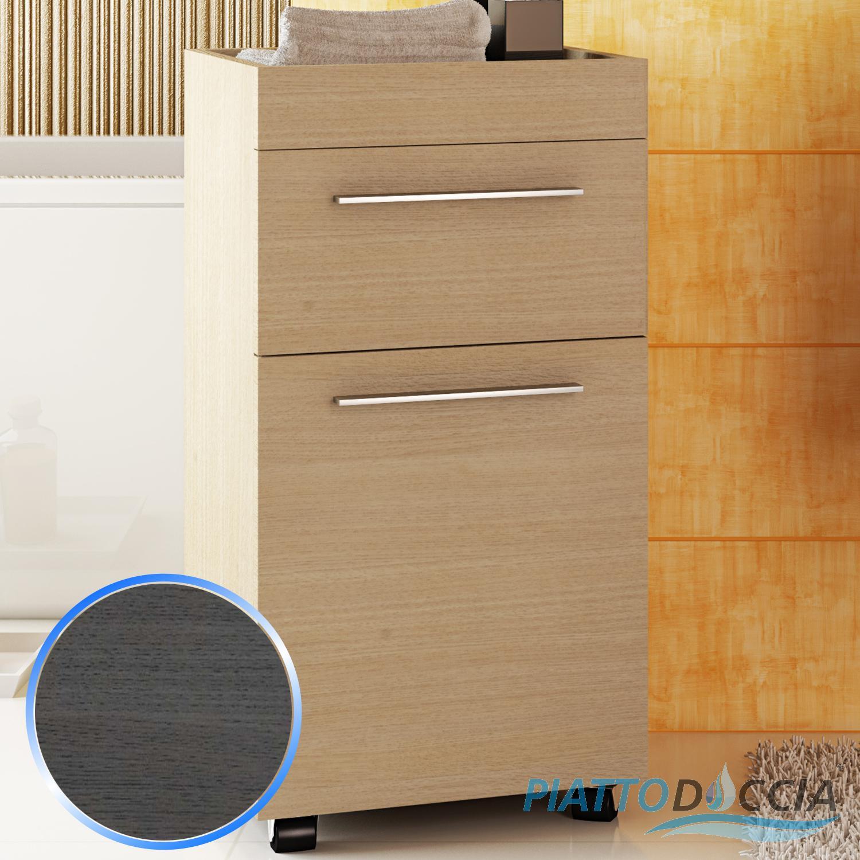 Cassettiera con ruote rotelle cassetti mobile da bagno arredo moderno design ebay - Cassettiera bagno ...