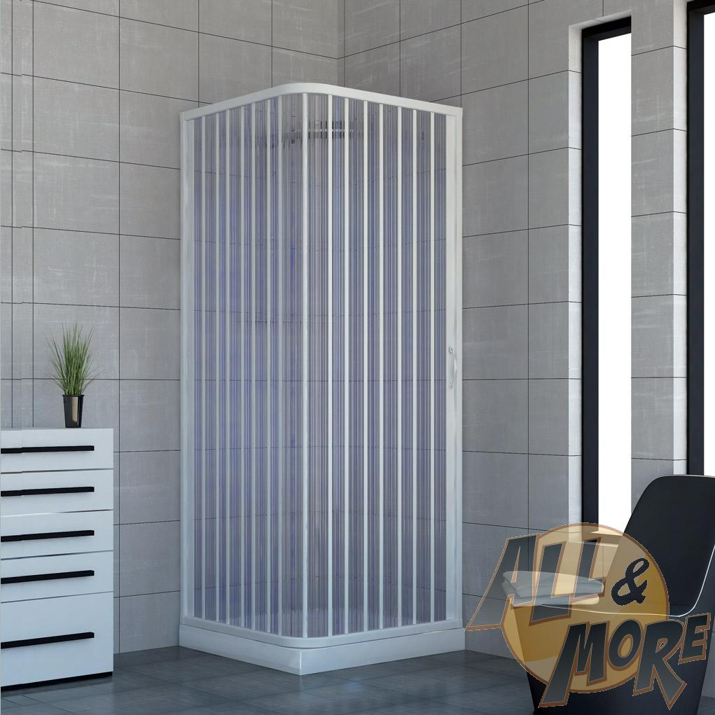 cabine de douche paroi de douche en pvc acquario 90x90 porte unique ebay. Black Bedroom Furniture Sets. Home Design Ideas