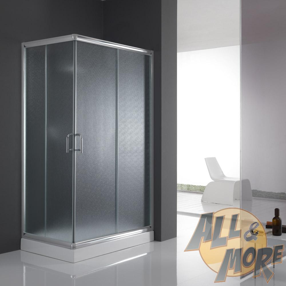 cabine de douche paroi de douche 100x70 h200 cm verre opaque angulaire alabama ebay. Black Bedroom Furniture Sets. Home Design Ideas