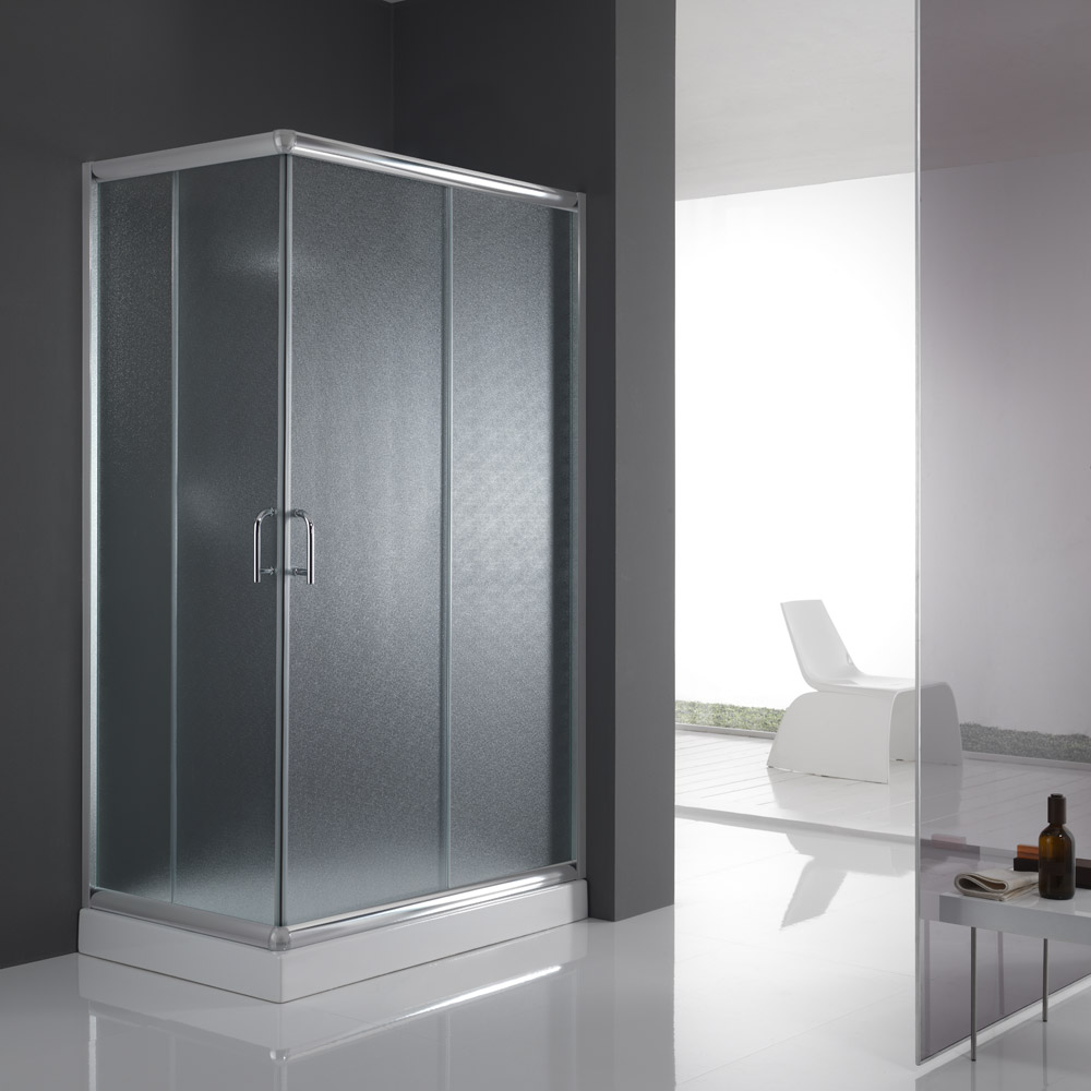 cabine de douche paroi de douche 120x70 h185 cm verre opaque angulaire alabama ebay. Black Bedroom Furniture Sets. Home Design Ideas