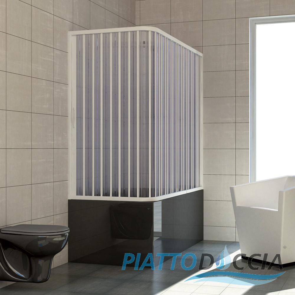 Dusche badewannenaufsatz badewannen faltwand for Bastoni per tende vasca da bagno