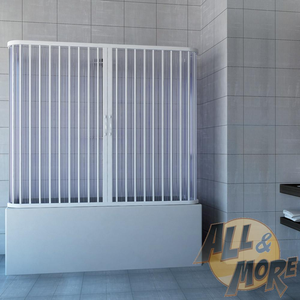 Bath Shower Plastic PVC 3 Sided 700x1500 mm mod. Nicla with central ...