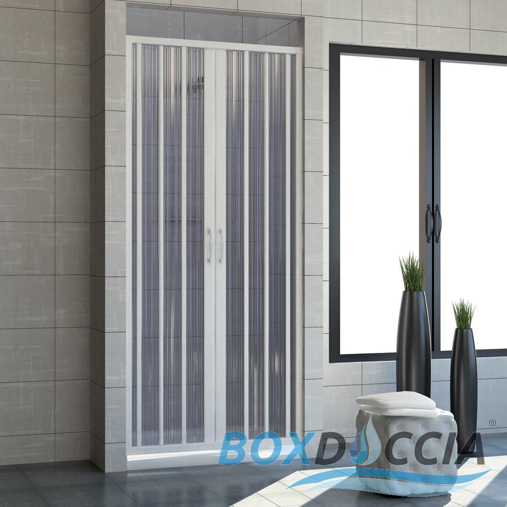 Cabine de douche paroi de douche pliante en pvc couleurs sur mesure ebay - Porte douche plastique ...