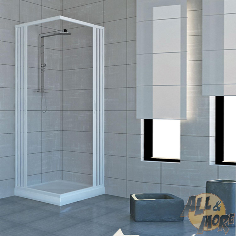 Box doccia 70x70 cabina angolare bagno a soffietto in pvc 14 colori su misura ebay - Tipi di doccia ...
