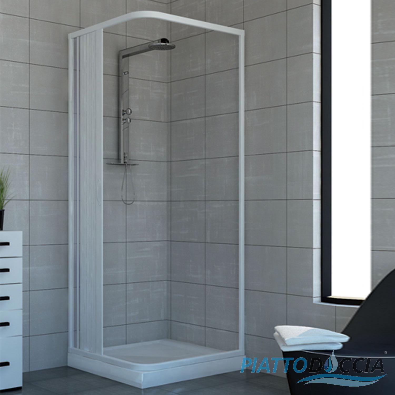 Shower Enclosure Plastic Pvc Side Opening Walk In Quadrant