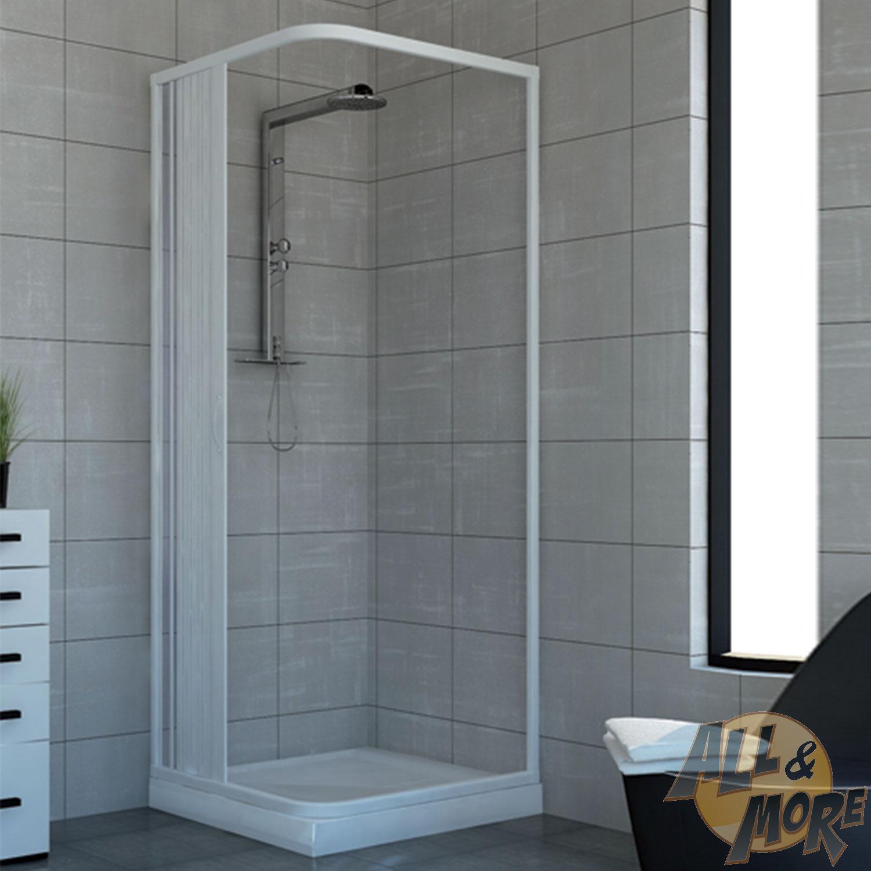 cabine de douche paroi de douche en pvc acquario 70x90 porte unique ebay. Black Bedroom Furniture Sets. Home Design Ideas