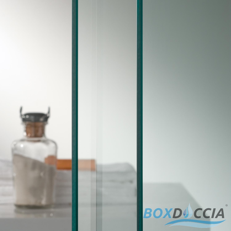 Idralite Box Mampara de Ducha Rectangular 75x90 H185 Transparente 6mm Mod Alabama