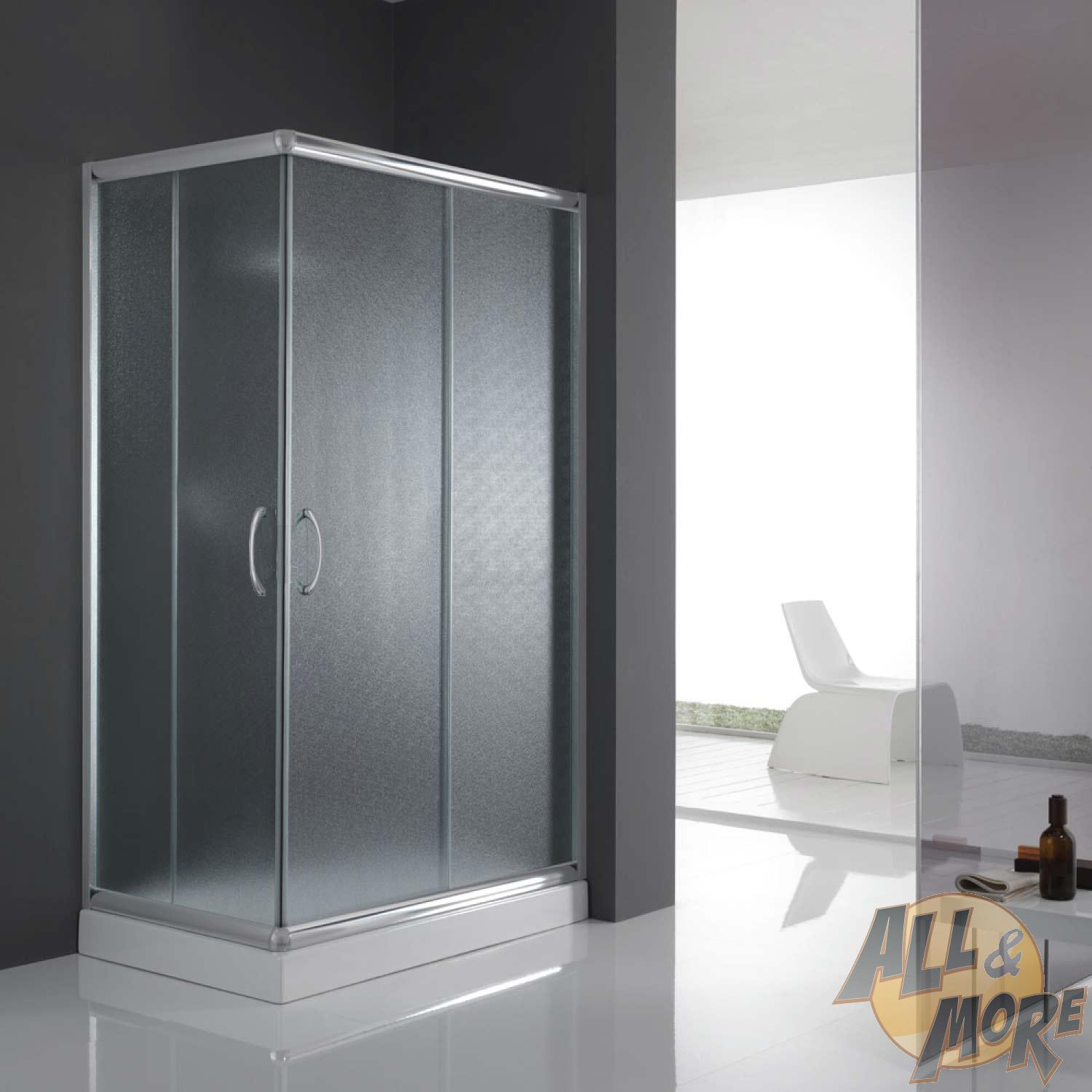 cabine de douche paroi de douche 120x90 h185 cm verre opaque angulaire alabama ebay. Black Bedroom Furniture Sets. Home Design Ideas