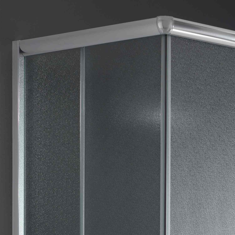 duschkabine duschabtrennung 90x75 h185 echtglas duschwand matt glas schiebet r ebay. Black Bedroom Furniture Sets. Home Design Ideas