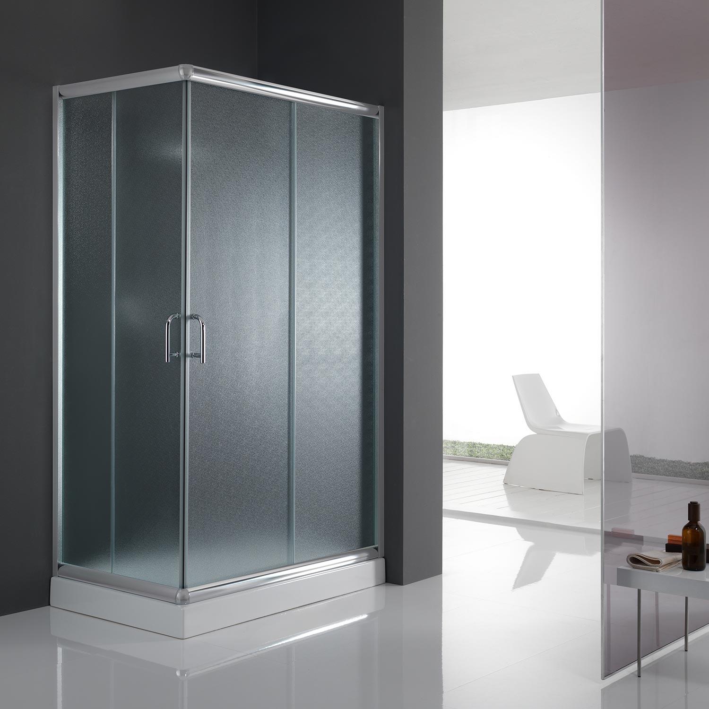 cabine de douche paroi de douche 120x90 h200 cm verre opaque angulaire alabama ebay. Black Bedroom Furniture Sets. Home Design Ideas