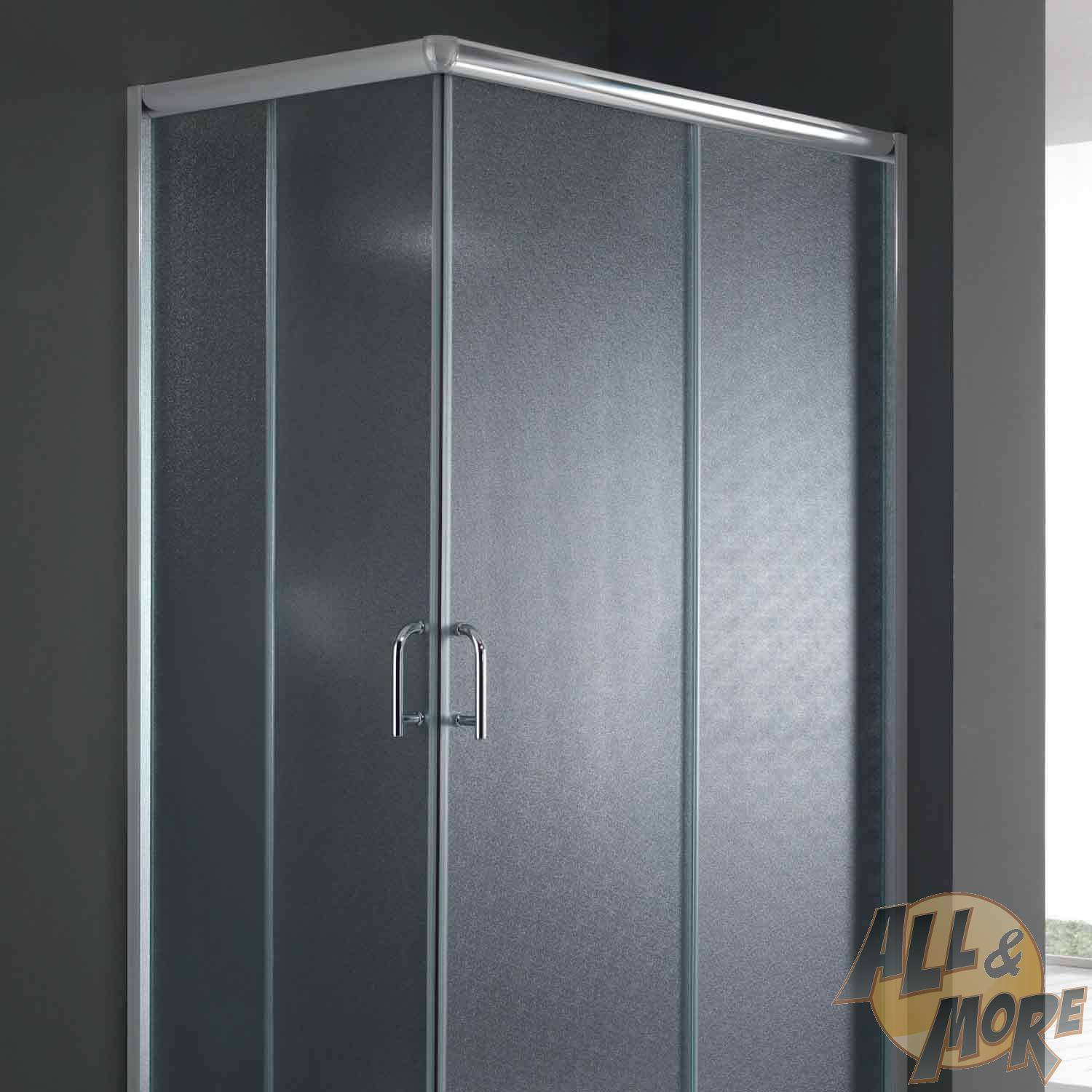 cabine de douche paroi de douche 80x70 h200 cm verre opaque angulaire alabama ebay. Black Bedroom Furniture Sets. Home Design Ideas