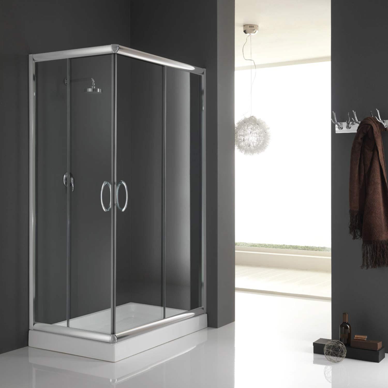 duschkabine duschabtrennung 90x75 h185 echtglas duschwand klarglas glas ebay. Black Bedroom Furniture Sets. Home Design Ideas
