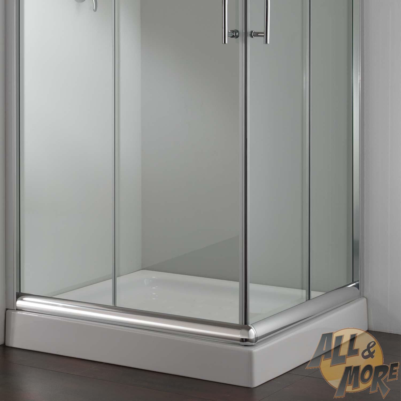 Cabine de douche paroi douche 90x80 h185 cm verre for Fenetre 80x90