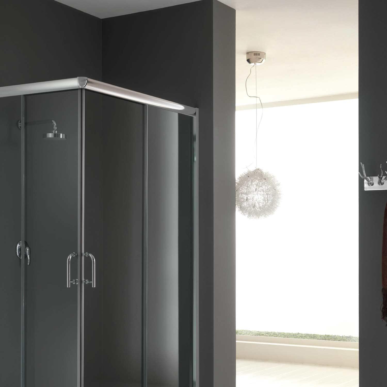 cabine de douche 100x80 h200 cm verre transparent. Black Bedroom Furniture Sets. Home Design Ideas