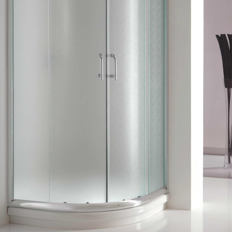 duschkabine duschabtrennung 90x90 h200 echtglas matt glas. Black Bedroom Furniture Sets. Home Design Ideas