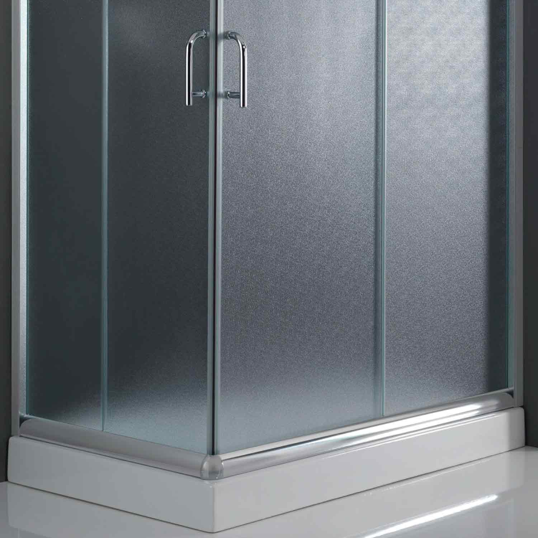 cabine de douche paroi 100x80 h200 cm verre opaque. Black Bedroom Furniture Sets. Home Design Ideas