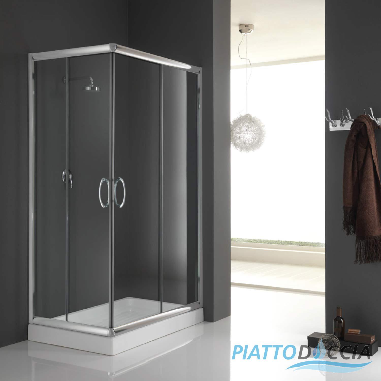 Shower Enclosure 700x900 mm H1850 Clear 6mm Glass mod Alabama