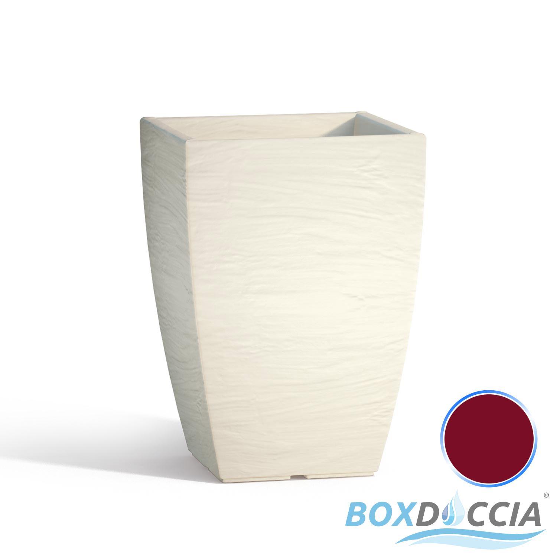 Vaso vasi resina moderno quadrato ruvido made in italy for Trasforma un semplice terreno in un colorato giardino