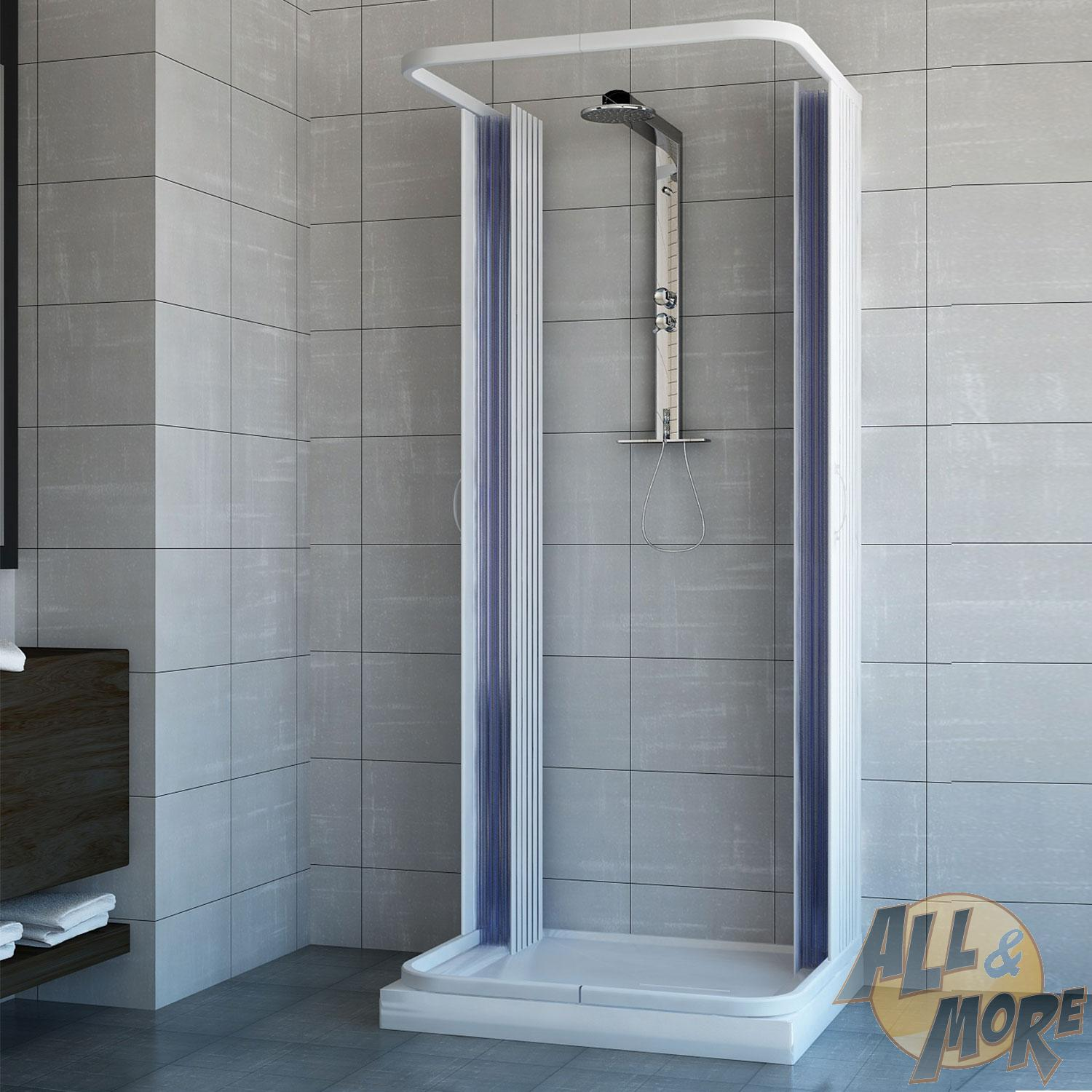 Shower Enclosure 3 Sided Central Open Quadrant Cubicle