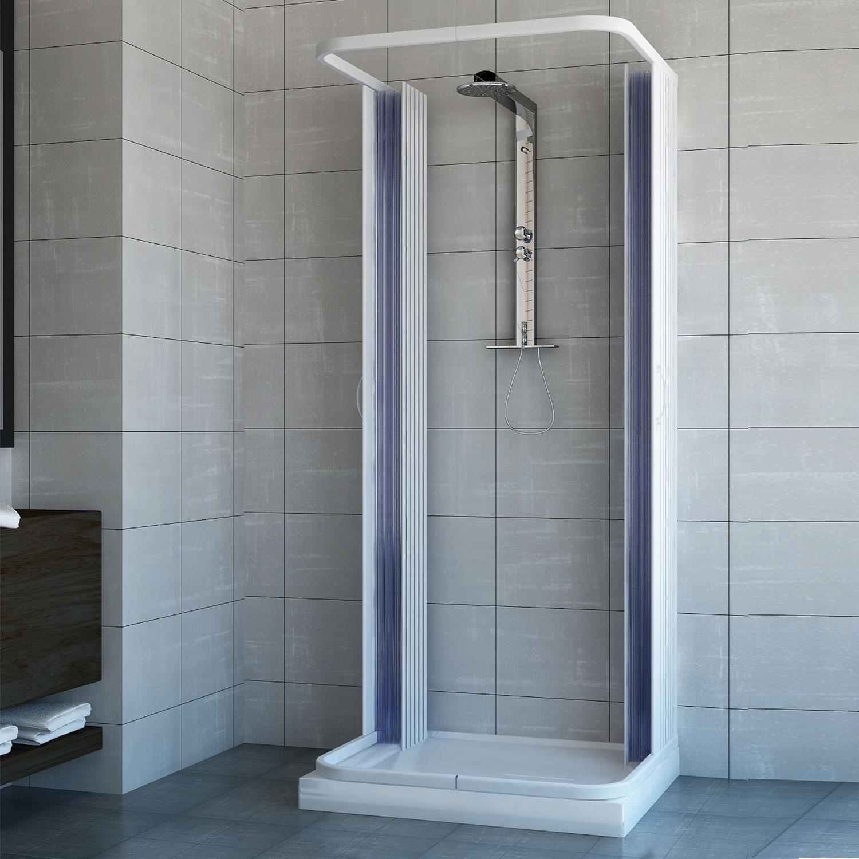 duschkabine dusche duschabtrennung duschwand u form faltt r 3 seiten 100x90 cm 8057680144199 ebay. Black Bedroom Furniture Sets. Home Design Ideas