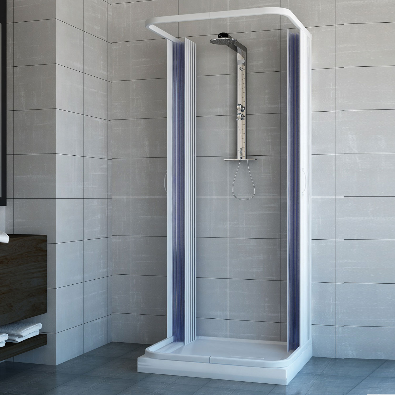 duschkabine dusche duschabtrennung duschwand u form faltt r 3 seiten 90x80 cm 8057680144182 ebay. Black Bedroom Furniture Sets. Home Design Ideas