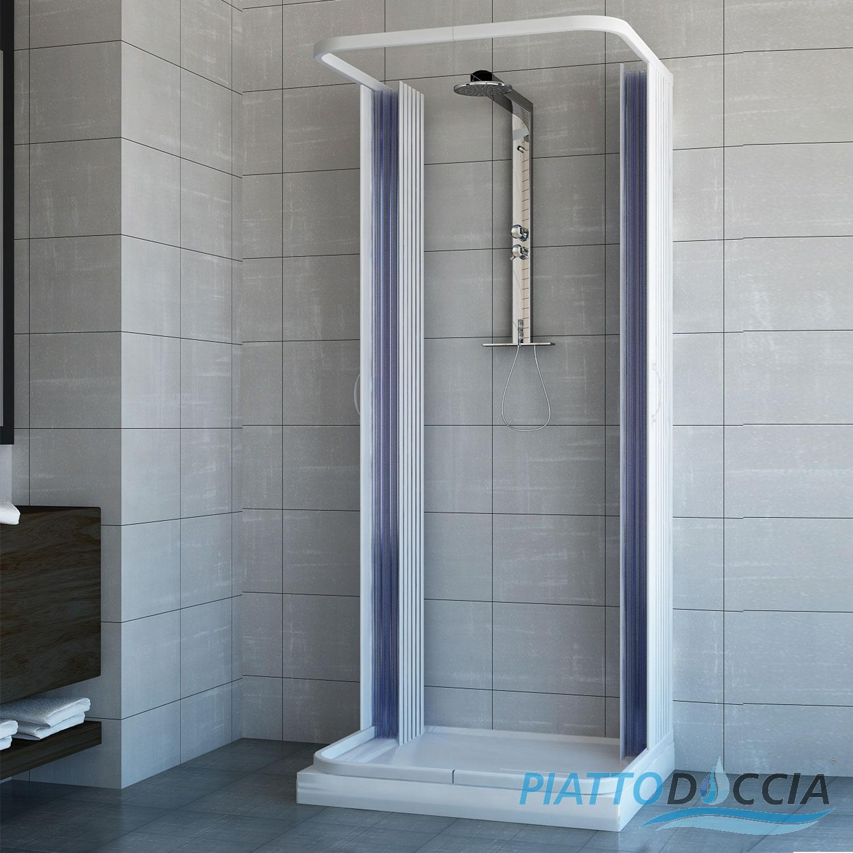 cabine de douche 3 parois paroi de douche en pvc 70x100 2 portes ebay. Black Bedroom Furniture Sets. Home Design Ideas
