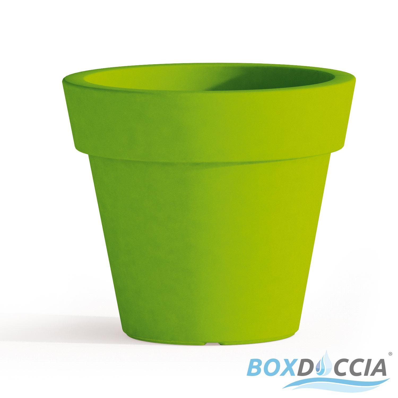 Vaso resina alto begonia tondo plastica pianta giardino for Vasi rettangolari plastica