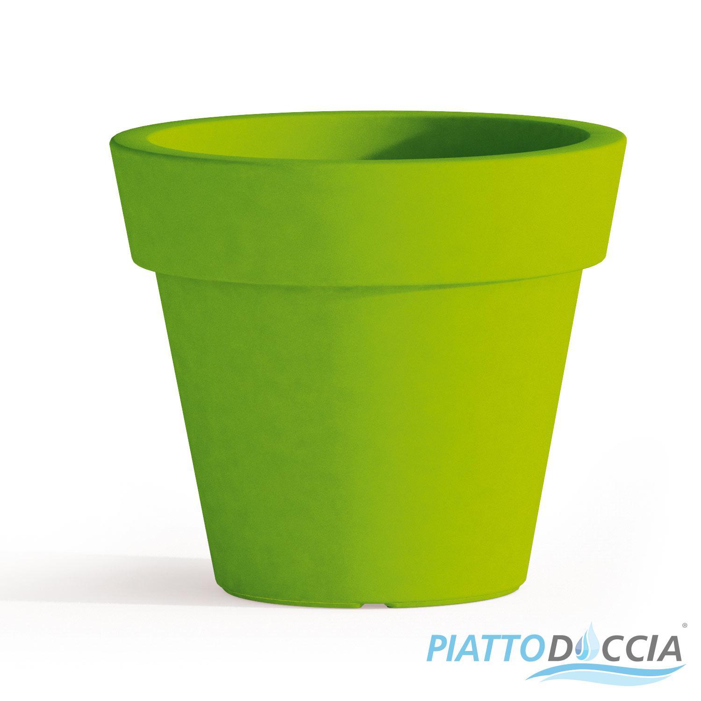 Vaso resina alto begonia tondo plastica pianta giardino for Vendita vasi plastica