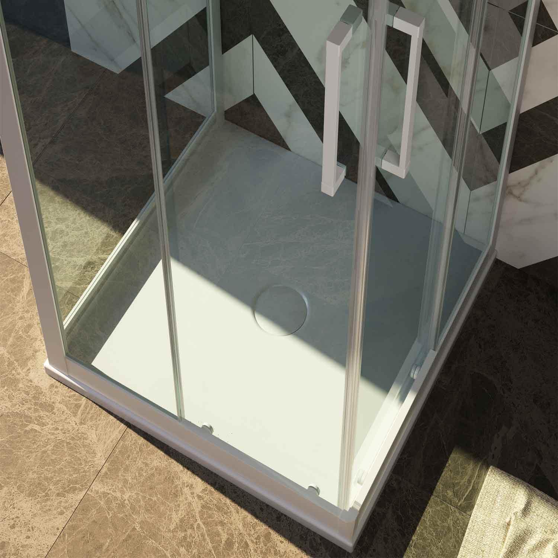 duschkabine dusche 3 seitig eckeinstieg schiebet ren pvc profile esg glas weiss ebay. Black Bedroom Furniture Sets. Home Design Ideas