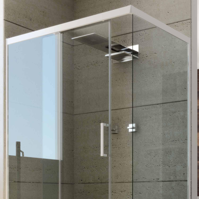 duschkabine dusche duschabtrennung schiebet r pvc profile esg glas weiss ebay. Black Bedroom Furniture Sets. Home Design Ideas
