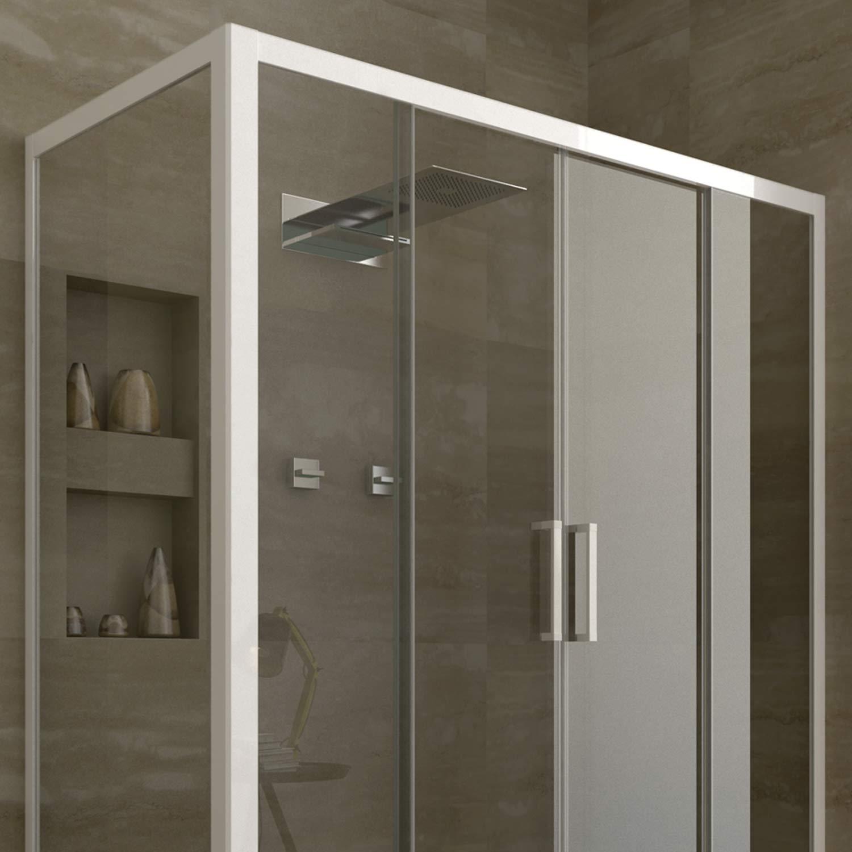 duschkabine duschabtrennung dusche 2 schiebet ren echtglas. Black Bedroom Furniture Sets. Home Design Ideas