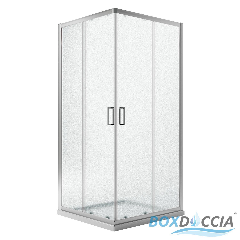Mamparas De Bano 80x80.Detalles De Box Mampara De Ducha 80x80 Cuadrado H185 Impreso C 5mm Angular Cristal Corredera