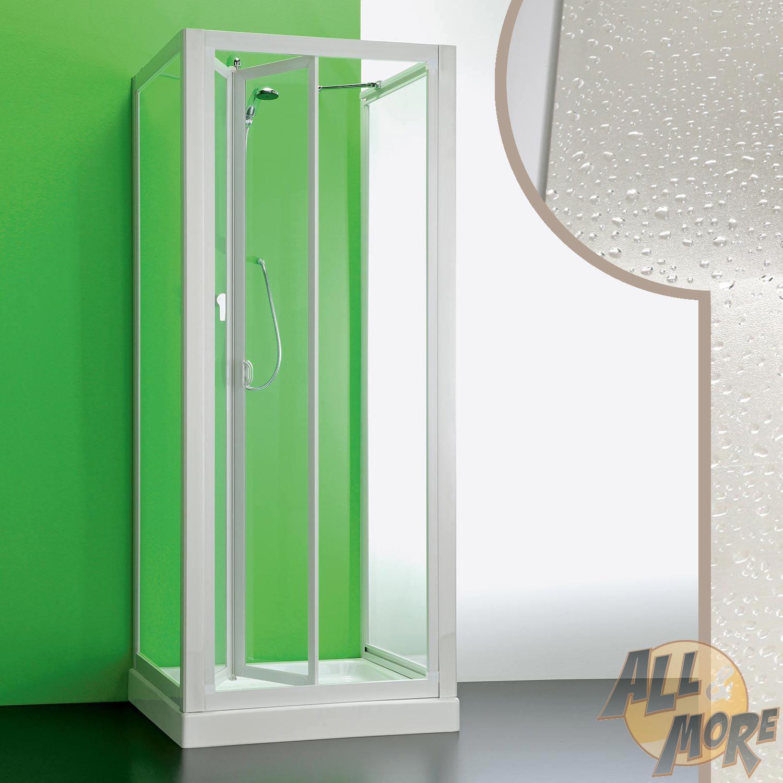 cabine de douche 90x85x90cm 3 parois ouverture pliante en. Black Bedroom Furniture Sets. Home Design Ideas