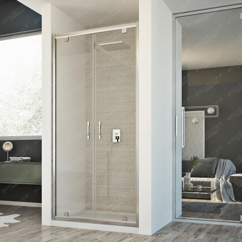 Box doccia it porta doccia mod cristal 2 ante online - Pannelli copri piastrelle bagno ...