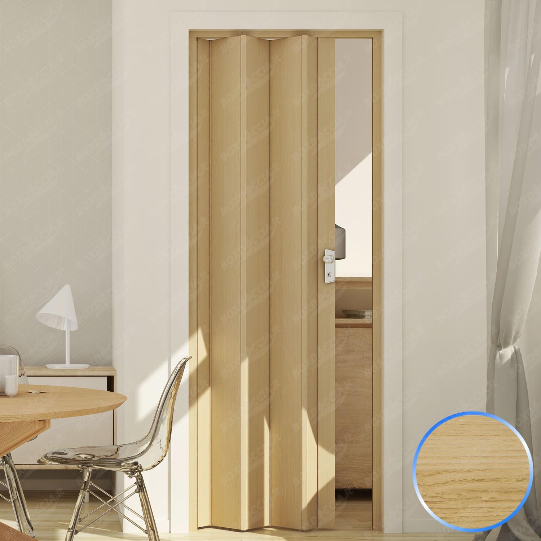 Box doccia it porta a soffietto da interno in pvc legno faggio 83x214 cm mod maya online - Porta a soffietto in legno ...