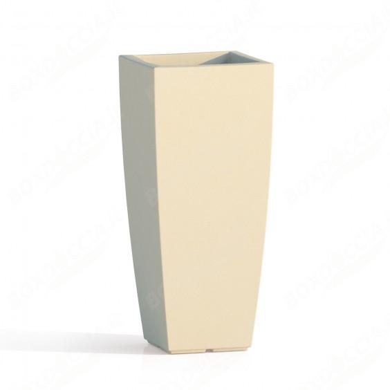 Vaso Agave In Resina Quadrato Avorio H90 40x40Cm