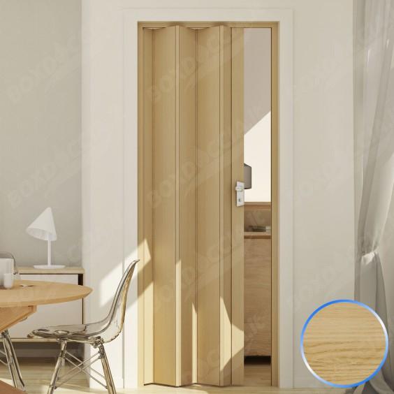 Porta a Soffietto da Interno in PVC Legno Faggio 83x214 cm mod. Maya