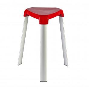 Trix - Sgabello 3 Gambe In Alluminio Rosso