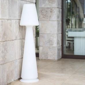 Lampada da terra in resina Chloe senza telecomando luce bianca H 165 Cm